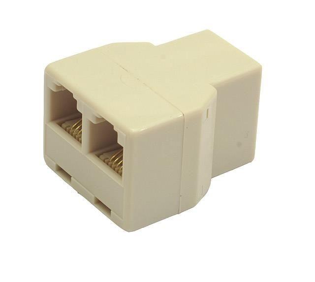 Gembird Adapter, rozdzielacz telefoniczny 2/1 RJ-11 3XF