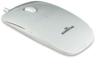 Manhattan mysz optyczna Mini Superslim USB (1000dpi, biała)