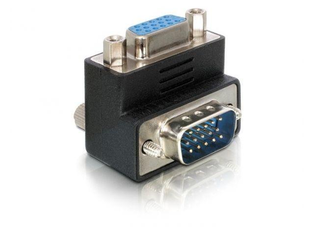 DeLOCK adapter VGA(F)-> VGA(M) kątowy prawy