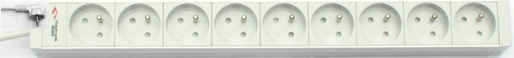 Fideltronik P-NN-9GB (9 gniazd, rack 19'', 1U, uchwyty metalowe)
