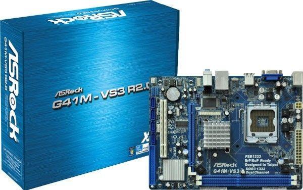 ASRock G41M-VS3, G41, DualDDR3-1333, SATA2, VGA, LAN, mATX