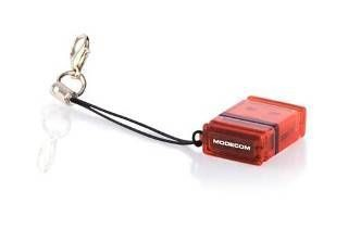 ModeCom CR-NANO Czytnik kart flash USB All In One - czerwony
