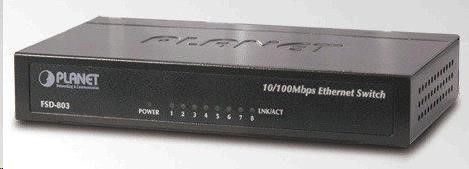 Planet FSD-803 switch 8port 10/100