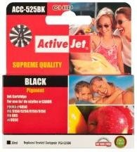 ActiveJet Tusz ActiveJet ACC-525BK | Black | 20 ml | Chip | Canon PGI-525BK