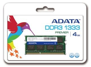 A-Data 4GB 1333MHz DDR3 CL9 SODIMM 1.5V - Retail