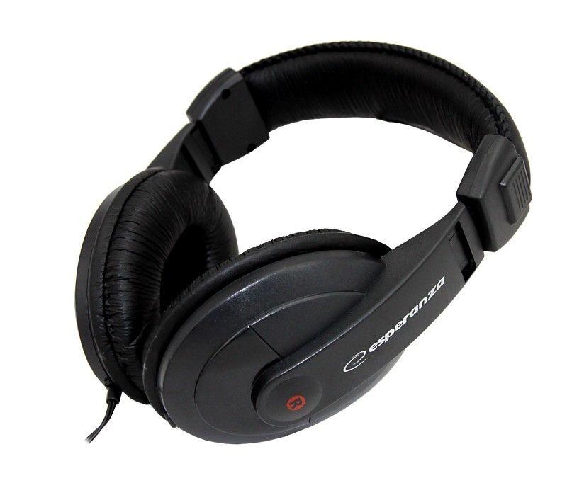 Esperanza Słuchawki Audio Stereo z Regulacją Głośności EH120 REGGAE | 2m