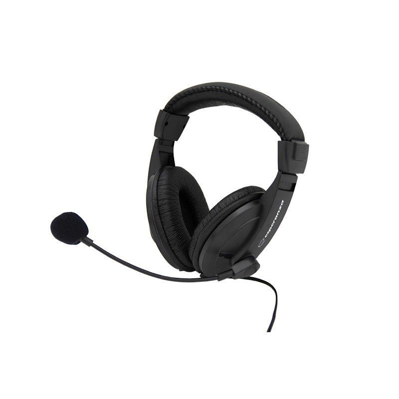Esperanza Słuchawki Stereo z Mikrofonem i Regulacją Głośności EH103 | 2,5m