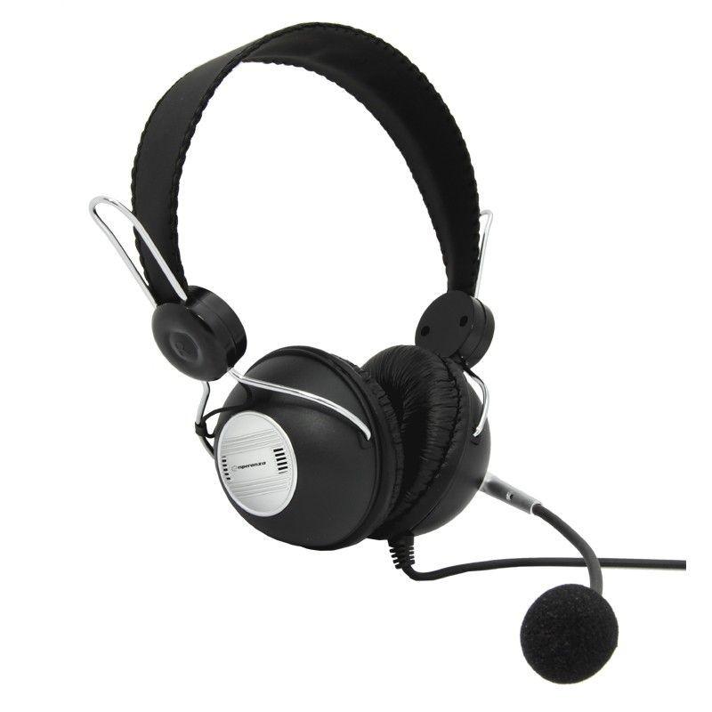 Esperanza Słuchawki Stereo z Mikrofonem i Regulacją Głośności EH117 CANCAN