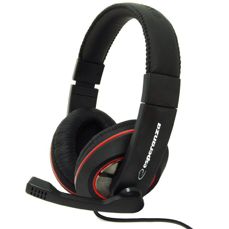 Esperanza Słuchawki Stereo z Mikrofonem i Regulacją Głośności EH118 SONATA