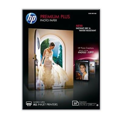 HP Papier HP Premium Plus High-gloss Photo Paper | 300g | 13x18cm borderless | 20ar