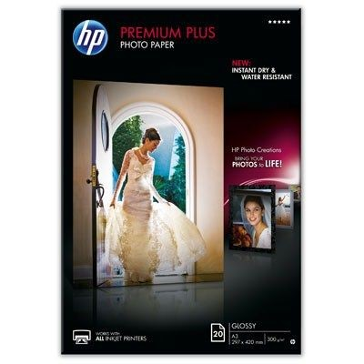 HP Premium Plus High-gloss Photo Paper (280g, A3, 20ark)