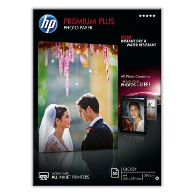 HP Premium Plus High-gloss Photo Paper (A4, 50ark)