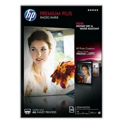 HP Premium Plus Semi-Gloss Photo Paper (280g, A4, 20ark)