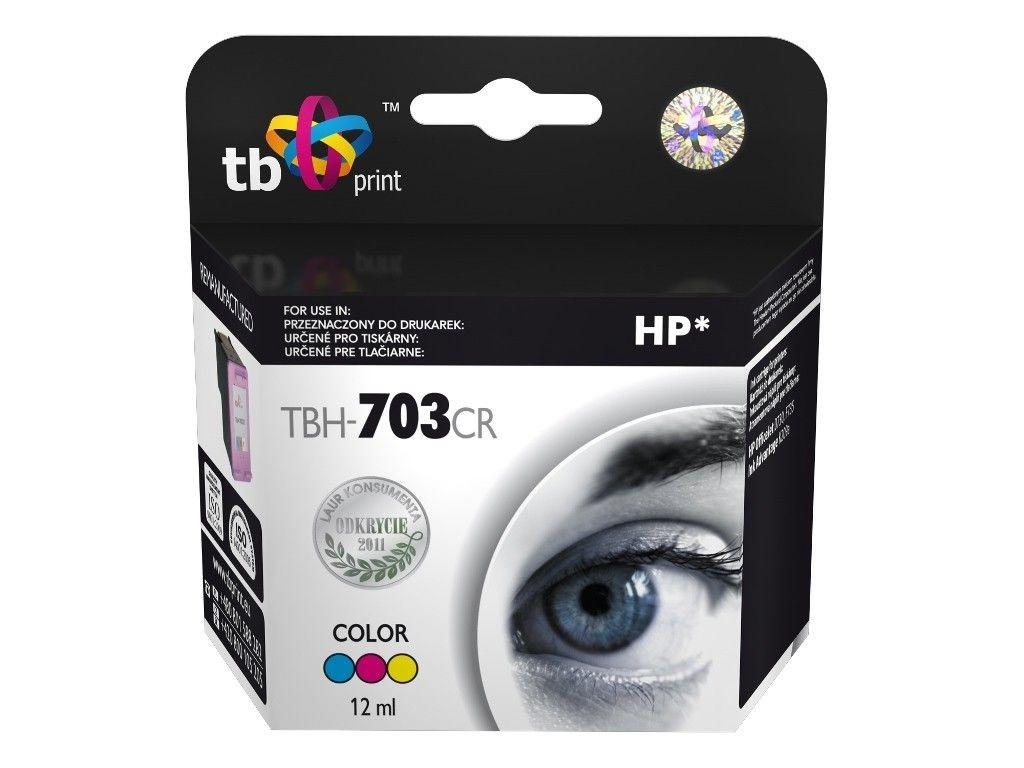 TB Print Tusz do HP DJ D730/F735 (HP nr 703 CD888AE) TBH-703CR Kolor ref.