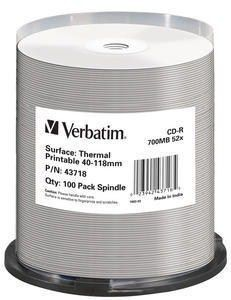 Verbatim CD-R 700MB 52x Thermal Printable (szpindel, 100szt)