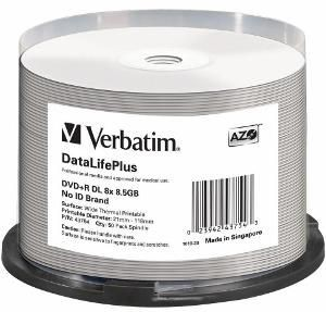 Verbatim DVD+R DL 8.5GB 8x Thermal Printable (szpindel, 50szt)