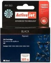 ActiveJet Tusz ActiveJet AH-301BRX | Black | 20 ml | Regenerowany | HP CH563EE HP 301XL
