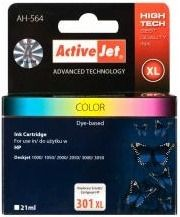 ActiveJet Tusz ActiveJet AH-301CRX | Color | 21 ml | Regenerowany | HP CH564EE HP 301XL