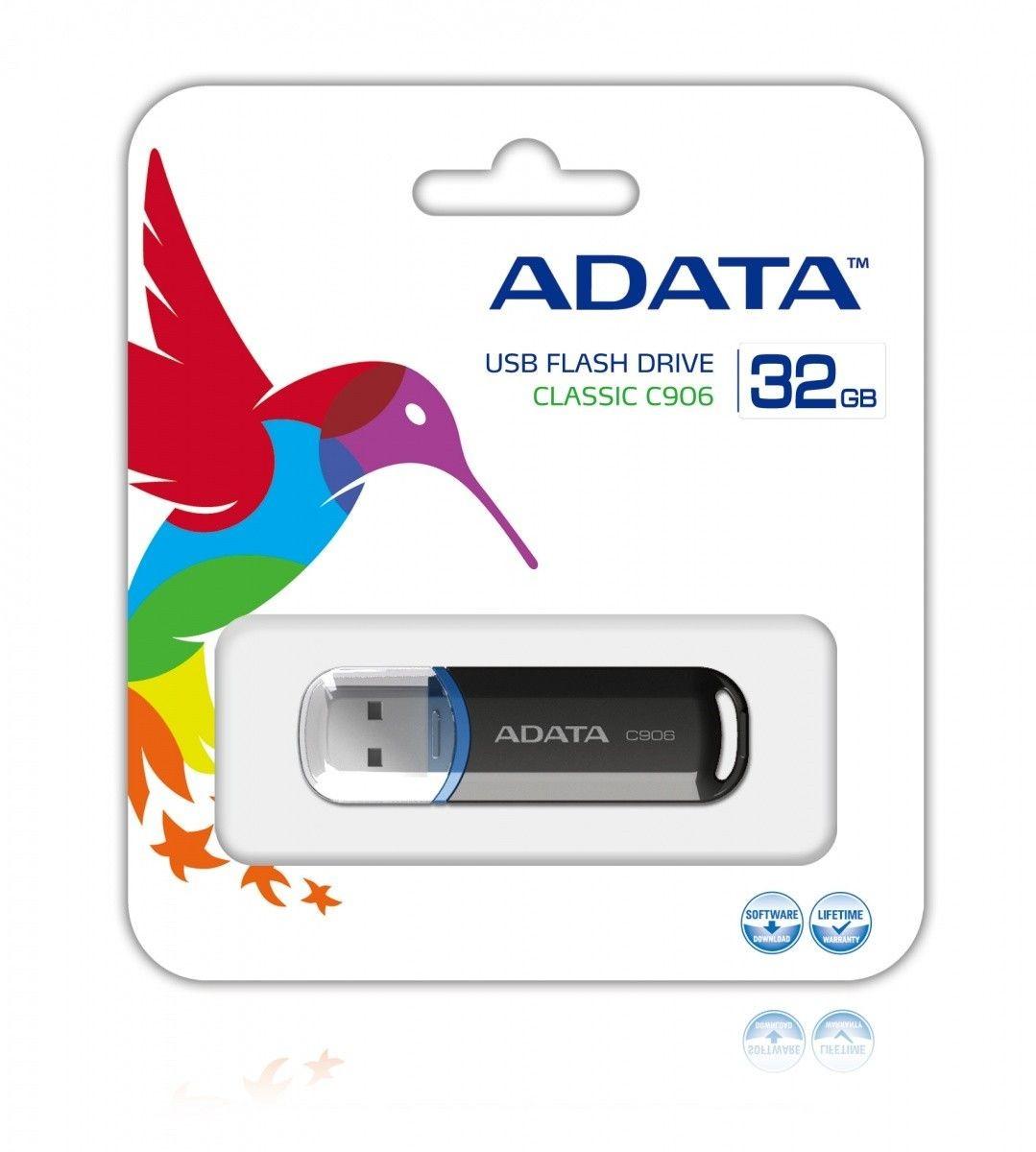 A-Data Adata pamięć USB C906 32GB USB 2.0 ( Czarny )