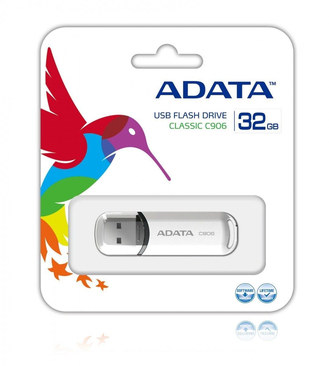 A-Data Adata pamięć USB C906 32GB USB 2.0 ( Biały )