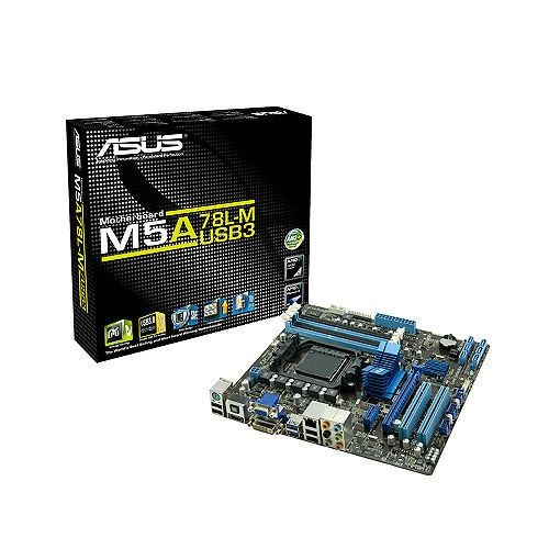 Asus M5A78L-M/USB3 (Socket AM3+, 760G, DualDDR3-1333, 6x SATA2, RAID, GBLAN, mATX)