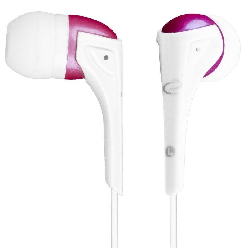 Esperanza słuchawki douszne stereo EH127 (biało-różowe)