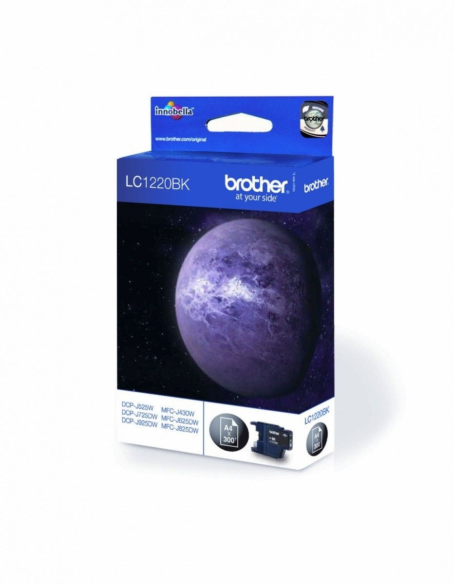 Brother Tusz LC1220BK black | 300str | DCP-J925DW