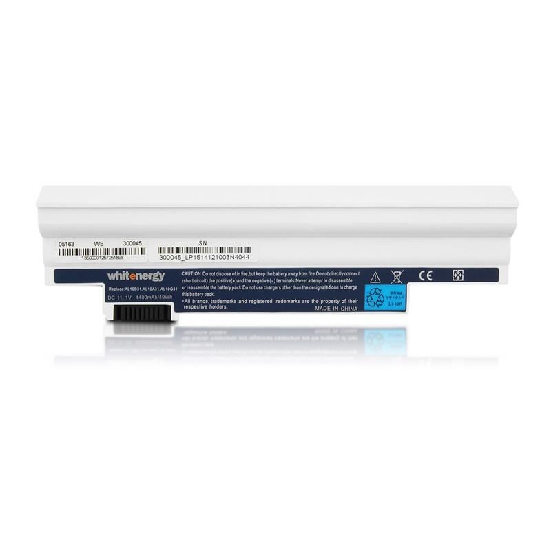 Whitenergy bateria Acer Aspire One D260 D255 (11.1V, Li-Ion, 4400mAh, biała)
