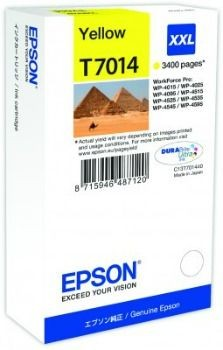 Epson Tusz T701 yellow XXL | 3400str | WP4000/4500