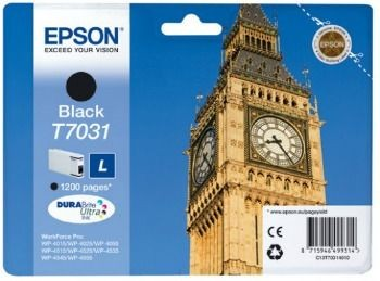 Epson Tusz T703 black L | WP4000/4500