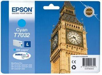 Epson Tusz T703 cyan L | 800str | WP4000/4500