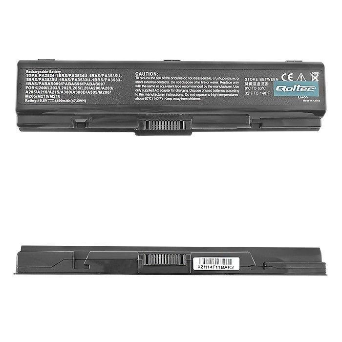 Qoltec Bateria do laptopa Long Life | TOSHIBA A200 A300 | 10.8 V | 4400 mAh