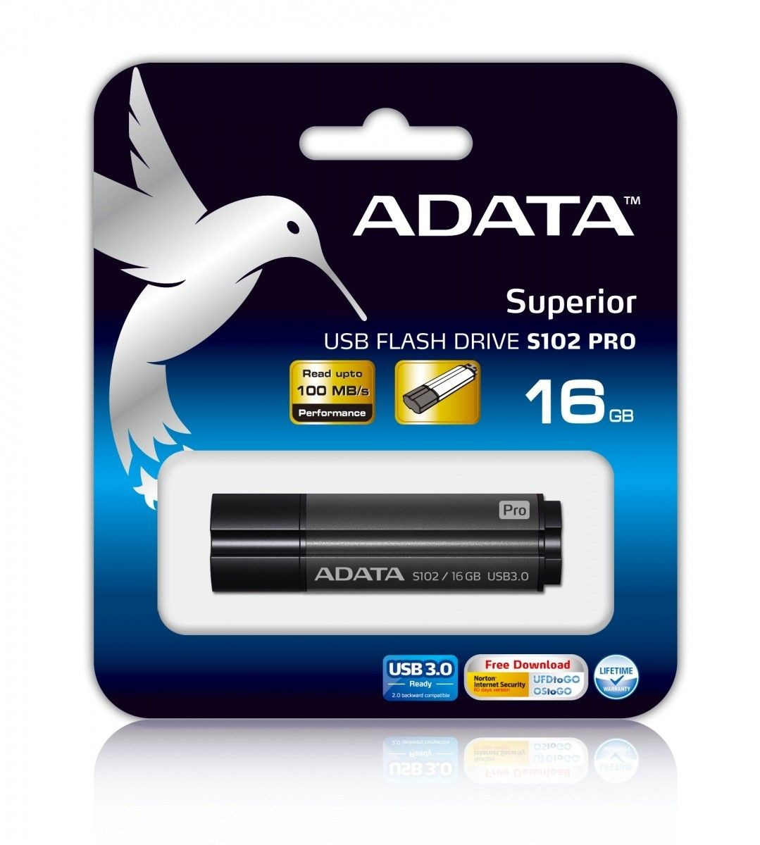 A-Data pamięć USB S102 PRO 16GB USB 3.0 Titanium Gray (Write/Read 25/90MB/s )