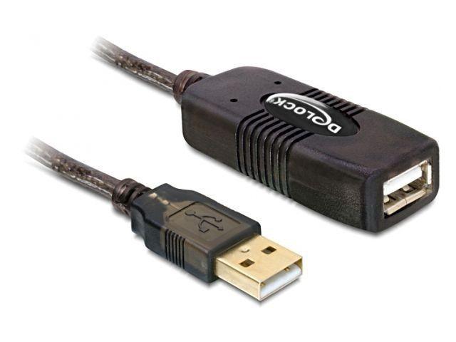 Delock przedłużacz USB 2.0 aktywny 15m (czarny, AM-AF)