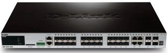 D-Link DGS-3620-28SC/SI xStack 24-port SFP Layer 3 Managed Gigabit Switch, 4 Combo