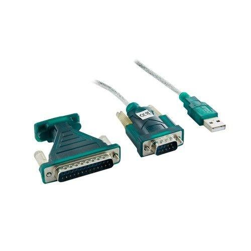 4World Adapter USB 2.0 do RS 232 DB9M DB25M