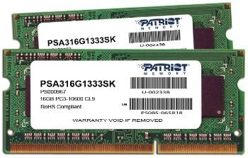 Patriot Signature Apple SODIMM DDR3 2x8GB 1333MHz CL9 1.5V