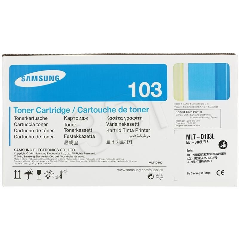 Samsung Toner black MLT-D103L | 2 500str | ML-2950/2955 SCX-4705/4727/4728/4729