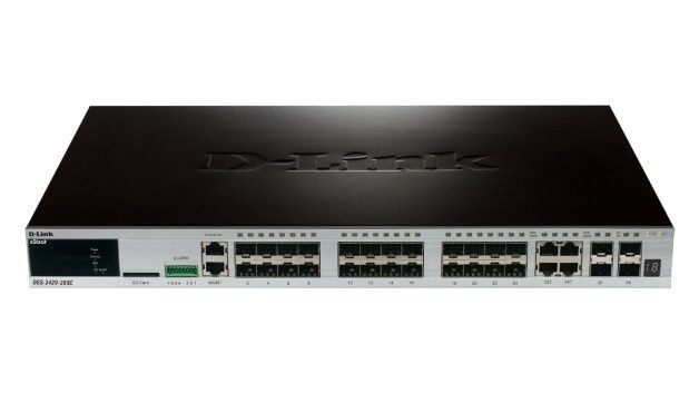 D-Link DGS-3420-28SC xStack 24-port SFP Layer 2+ Stackable Managed Gigabit Switch