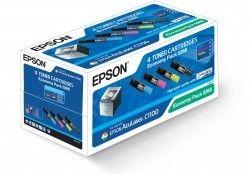 Epson zestaw tonerów CMYK EconomyPack (AcuLaser C1100/1100N, CX11N/11NF/11NFC)