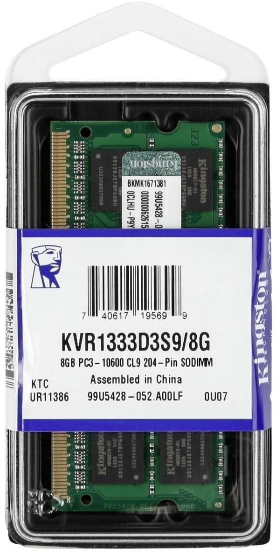 Kingston SODIMM DDR3 8GB 1333MHz CL9