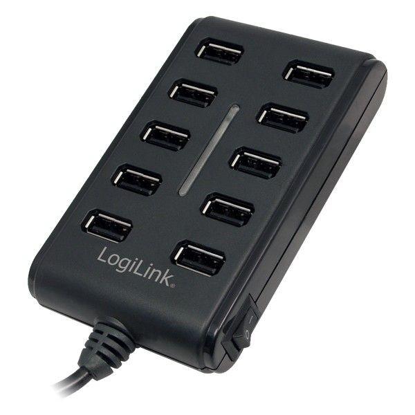 LogiLink 10-portowy hub USB2.0 z włącznikiem ON/OFF