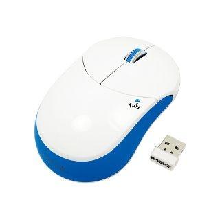 LogiLink bezprzewodowa mysz optyczna 2.4GHz ''smile'' (niebieska)