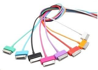 4World Kabel do transmisji danych iPhone 4 / iPod / iPad, 1m, USB 2.0 Czarny