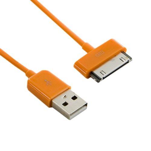 4World kabel USB 2.0 do iPad / iPhone /iPod transfer/ładowanie 1.0m (pomarańczowy)