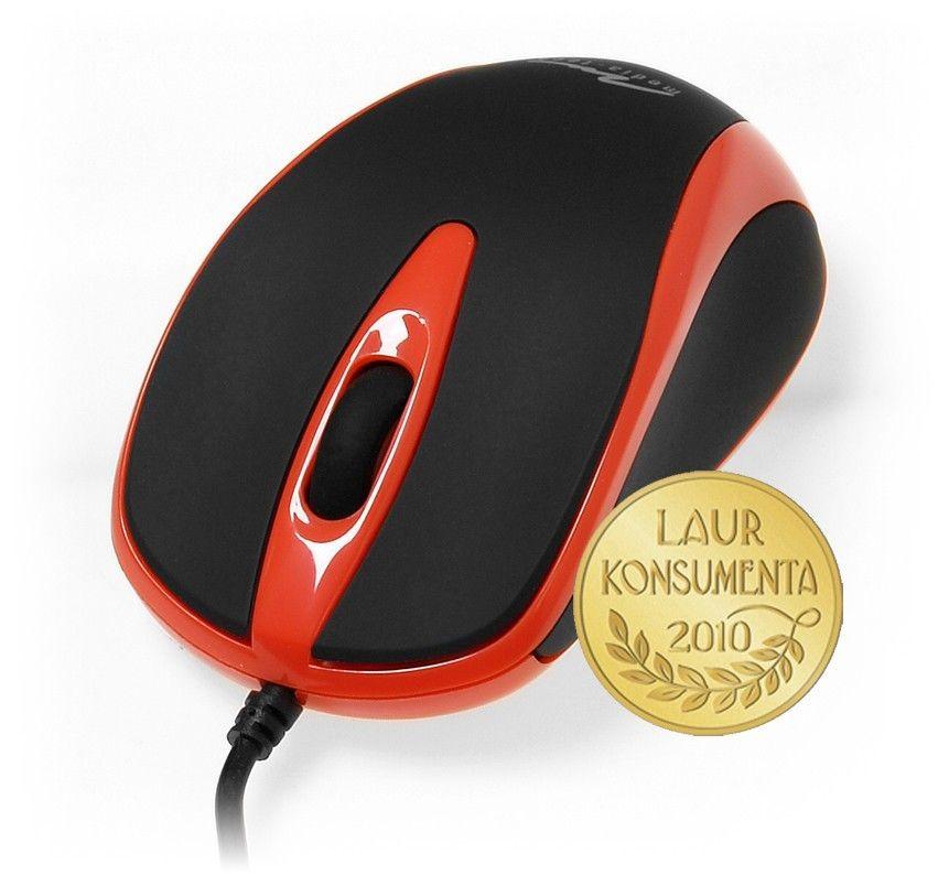 Media-Tech PLANO (mysz optyczna, 800cpi, USB, czarno-czerwona)
