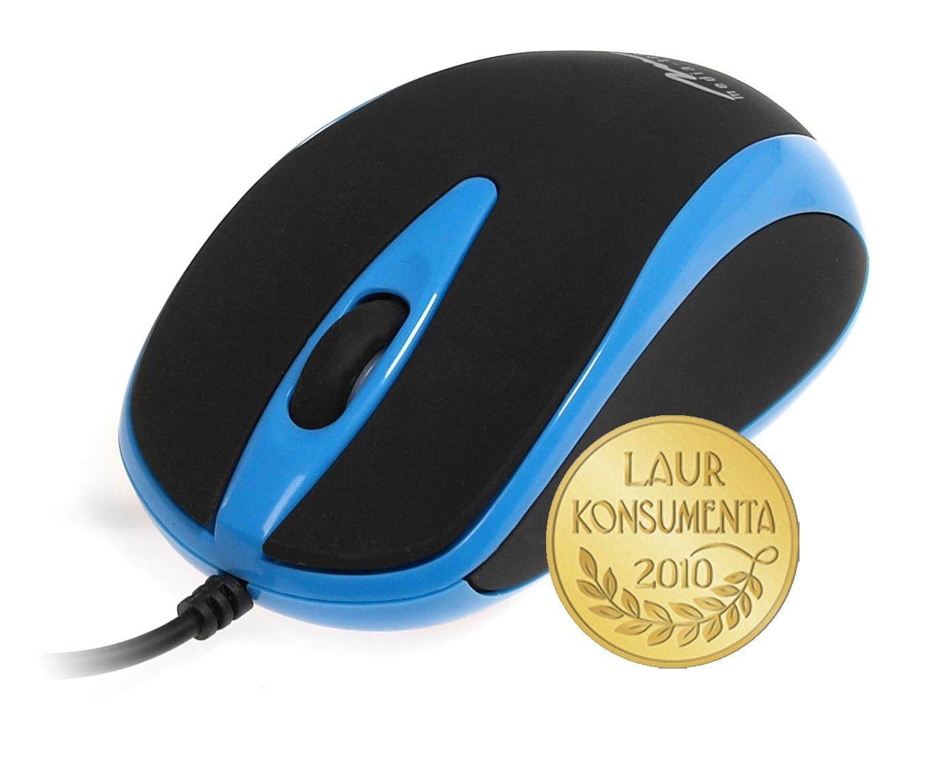 Media-Tech PLANO (mysz optyczna, 800cpi, USB, czarno-niebieska)