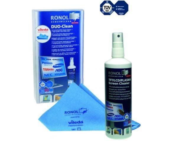 RONOL zestaw do czyszczenia TFT/LCD Duo Clean RON-10020 (płyn 125ml + Vileda)