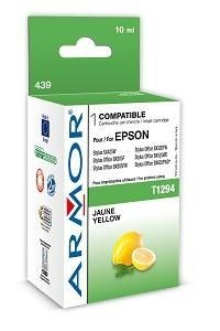 Armor wkład atramentowy do Epson Epson SX425W, Stylus Office BX305F (T129340, yellow, 10ml)