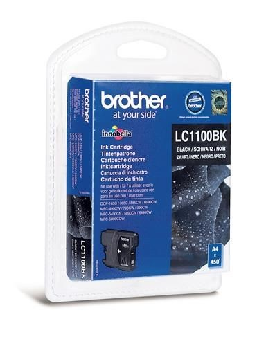 Brother Tusz LC1100BKBP black Blister Pack | 450str | DCP395CN / DCP585CW